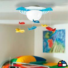 Plafón Vidrio-Madera Avigo Philips. #Sodimac #Homecenter #Iluminación #Infantil