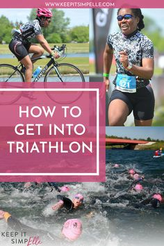First Triathlon? How To Get Into Triathlon - keep it simpElle Sprint Triathlon Training Plan, Swim Technique, Triathalon, Learn To Swim, I Can Do It, Get Started, Improve Yourself, Cycling, Swimming