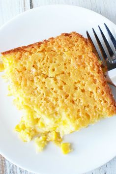 Sweet corn casserole combines creamed corn into a southern homemade side dish from scratch. Typically served on a Thanksgiving table, this baked recipe is so good that your dish will be empty before the dinner is done! Sweet Corn Casserole, Sweet Corn Pudding, Vegetable Casserole, Casserole Dishes, Dinner Side Dishes, Vegetable Side Dishes, Side Recipes, Vegetable Recipes, Corn Recipes