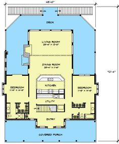 Plan W46017HC: Hill Country, Narrow Lot, Farmhouse, Country House Plans & Home Designs