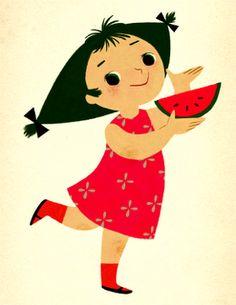 Mary Blair - Melon girl