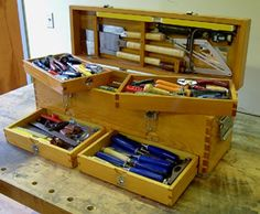 Wood Carpenters Tool Box If you plan to master woodworking methods, look at http://www.woodesigner.net