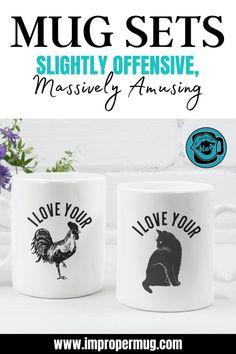 Coffee Gifts, Funny Coffee Mugs, Funny Mugs, Gifts In A Mug, Couples Coffee Mugs, Valentines Mugs, Valentines Day Gifts For Him, Valentine Cookies, Cute Gifts