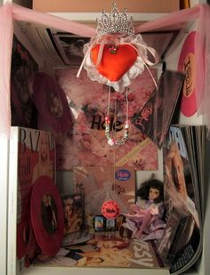 Tavi's shrine to Hole. As part of her piece on how to make your bedroom look more like a movie. I love this kid!