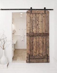 I do love a sliding barn door.