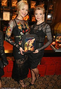 Jennifer and Natalie posed together inside the Tim Palen: Photographs From The Hunger Games book launch