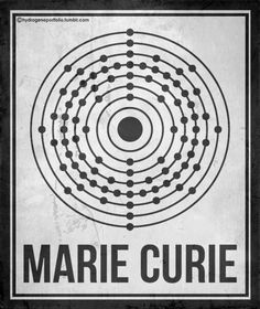 MARIE CURIE: Minimal Posters of Women Who Changed Science. And The World