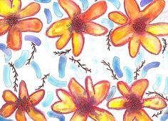 violabluff/ Hawai / flowers/ watercolour