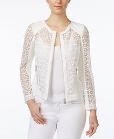 White Lace Blazer to Add to Your Clothes More Charming and Blazer Outfits, Blazer Fashion, Casual Outfits, Fashion Outfits, Womens Fashion, Casual Blazer, Cheap Fashion, Dress Outfits, Dresses