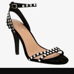 Brand New Studded Ankle Strap Heels Wide Width