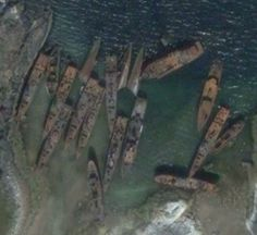 """What happened to the Soviet Navy when the USSR collapsed? Ships were towed """"here"""" and allowed to rust/decay."""