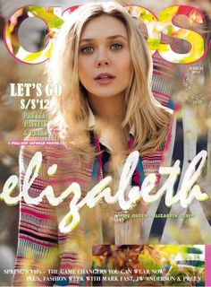 Indie Floral Fashion Shoots - Elizabeth Olsen is on the Cover of ASOS Magazine March 2012