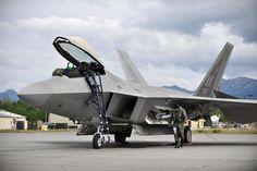 F-22 Raptor Pilot Conducting Pre-Flight on Ramp Prior to Flight