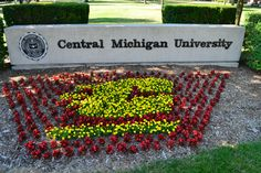 Summertime at CMU! Even the flowers are Fired UP! Love this place! Alma College, Lake Isabella, Central Michigan University, Forest Hill, Beach Town, High Five, Where The Heart Is, Flower Beds, Wine Country