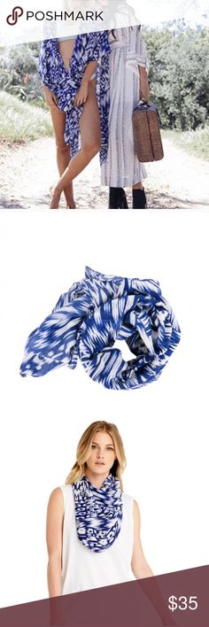 Michael Stars Ruana Scarf/Sarong Brushed batik ruana, nocturnal (blue and white print). 100% viscose. NWT. Michael Stars Accessories Scarves & Wraps