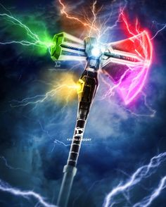 Stormbreaker, the hammer Thor with the Infinity Gems - Stormbreaker, o martelo de Thor com as Joias do Infinito Captain Marvel, Marvel Avengers, Marvel Dc Comics, Marvel Heroes, Captain America, Poster Superman, Poster Marvel, Assassins Creed Unity, Marvel Characters