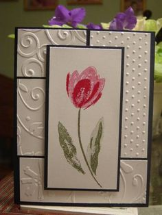 Terrific Tulips use my all time favorite stamp to create triple time card