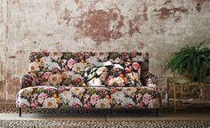 Herbaria Jacquard Cinnabar woven velvet | Black Edition