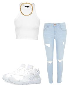 """Untitled #93"" by sulikeymateos ❤ liked on Polyvore featuring Topshop, River Island and NIKE"