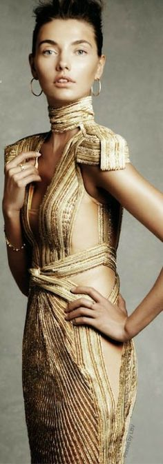 Modern Goddess / karen cox. Gold gown