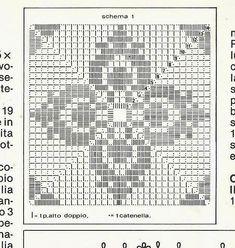 Crochet Square Patterns, Crochet Motifs, Crochet Diagram, Crochet Squares, Thread Crochet, Crochet Crafts, Crochet Doilies, Crochet Lace, Grannies Crochet