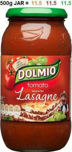 Dolmio lasagne jar