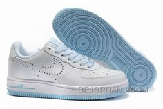 http://www.bejordans.com/60off-big-discount-nike-womens-air-force-1-perforated-swoosh-pack-white-pale-blue-white-fkgj1585.html 60%OFF! BIG DISCOUNT! NIKE WOMENS AIR FORCE 1 PERFORATED SWOOSH PACK WHITE PALE BLUE WHITE FKGJ1585 Only $78.00 , Free Shipping!