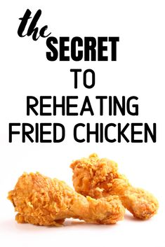 Here's how to reheat fried chicken perfectly. Moola Saving Mom, Piece Of Bread, Fries, Chicken Recipes, The Secret, Meat, Household Tips, Vegetables