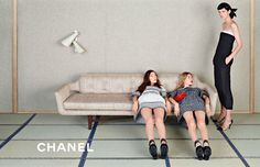Stella Tennant, Ondria Hardin and Yumi Lambert for Chanel Spring 2013.  Photographed by Karl Lagerfeld.