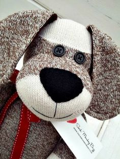 Sock Monkey Doll, Long Eared Puppy Dog by SockMonkeyBizz for $38.50 #zibbet