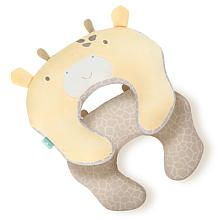 The mombo™ nursing pillow by Comfort and Harmony™ is the original 2-Sided nursing pillow. The Firm2Soft™ feature means that one side is soft for baby to lounge on, and the other side is firm, providing you with the ideal amount of firm support for nursing. The removable, machine washable slipcover features soft, plush boa fabric and premium embroidery and applique create an adorable Giraffe face. This pillow comes with a removable VibeInside™ vibration unit to help provid...