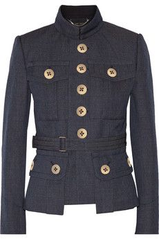 Marc Jacobs Belted wool-gabardine jacket | NET-A-PORTER