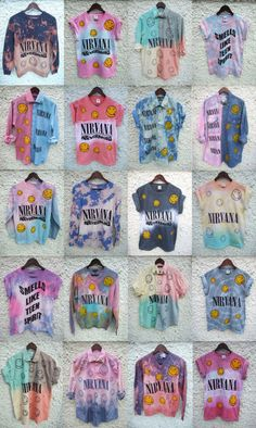 t-shirt grunge nirvana tie dye blouse shirt tee colorful smiley oldschool vintage hipster ombre bleach diy rad radical