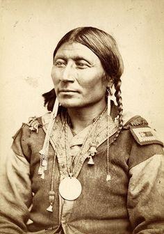 A Kiowa man- ca. 1880