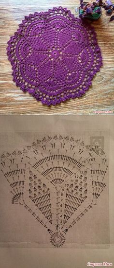 Watch The Video Splendid Crochet a Puff Flower Ideas. Phenomenal Crochet a Puff Flower Ideas. Crochet Doily Diagram, Crochet Square Patterns, Crochet Flower Patterns, Crochet Round, Crochet Chart, Crochet Home, Filet Crochet, Crochet Designs, Crochet Flowers