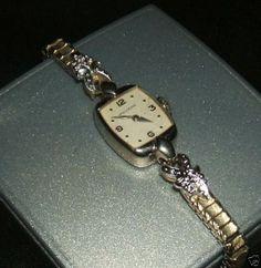 Original MOVADO echt 585 Weißgold 14Kt. Gold Diamanten Gelbgold Armbanduhr Uhr