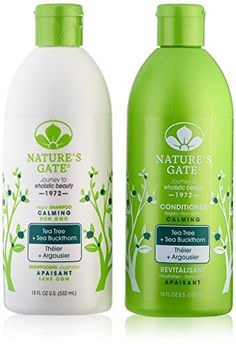Introducing Natures Gate Tea Tree Calming for Irritated Flaky Scalp Duo Set Shampoo  Conditioner 18 Oz Each Bottle. Get Your Ladies Products Here and follow us for more updates!