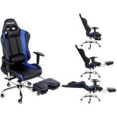 Merax High Back Erogonomic Racing Style Reclining Computer Chair, Black