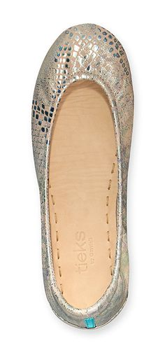 With their sparkling silver and pale pink tones, Romantic Blush Tieks are sure to make any girl blush!
