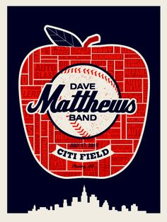 Dave Matthews Band Citi Field concert poster by Methane Studios (SOLD OUT)