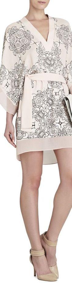 BCBGMaxAzria Sassa Kimono-Sleeve Short Dress XXS New NWT #BCBGMAXAZRIA