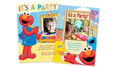 Photo cards with your favorite Sesame Street characters
