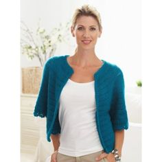 Cape Sleeved Cardi - FREE pattern Caron yarns
