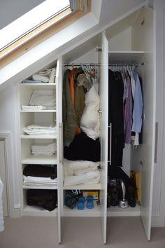 #renovations ideas …… | Loft conversion wardrobe | Rako Installer Magazine - http://rakoinstallermag.co.uk