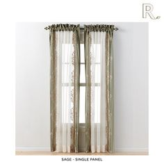 Regal Home Danbury Embroidered Window Valance or Curtain Panel - Assorted Colors
