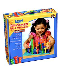 Take a look at this Deluxe Tall-Stacker Pegs & Pegboard Kit by Lauri by Patch Products on #zulily today!