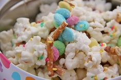 If you are looking for a fun Easter treat to make with the kids, check out this recipe for Spring Snack Mix!