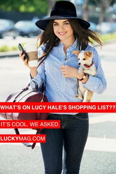 I want/need this hat (Lucy Hale on Lucky Magazine, August 2013; hat by Eugenia Kim.)