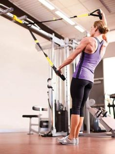 The TRX Split Fly is your go-to for strong, sexy shoulders. #SelfMagazine