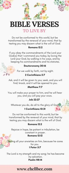 Chellbee.com | Atlanta-Based Lifestyle and Faith Blog: 12 Bible Verse to Live By #bibleverse #christian